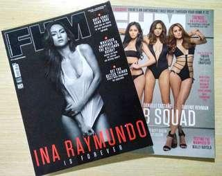 FHM Magazines - Ina Raymundo and Bomb Squad (beauty queens)