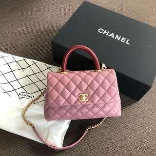Pink handle bag