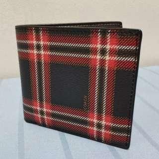 [CNY SALES] Double Billfold Wallet With Script Plaid Print #CNYGA