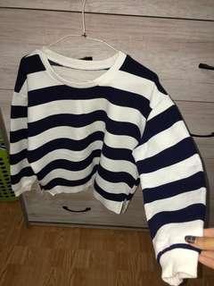 🚚 深藍條紋上衣 #一百均價