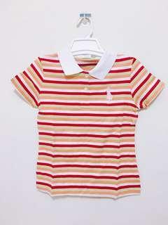條紋polo衫