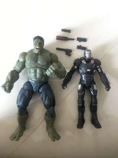 Marvel legends hulk & war machine