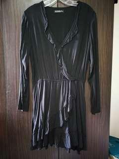 cotton On long sleeve Black dress