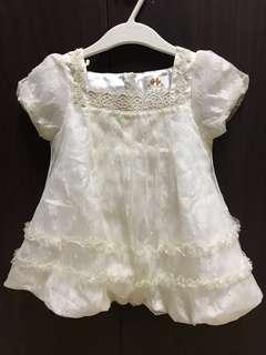 Baptismal white dress unused fits up to 18 months based on tag