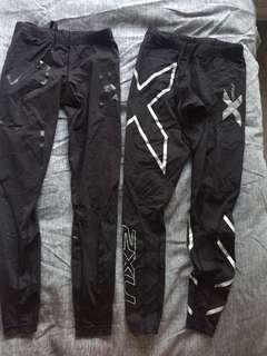 2XU compression leggings women XS x2 pairs