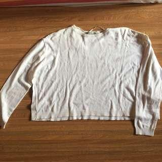 White croptop Zara Knitwear