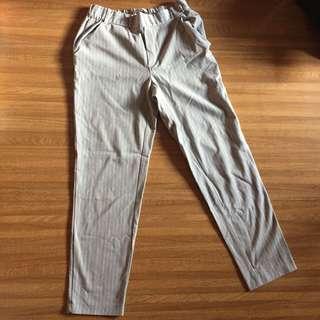 Grey Stripes Pants ZARA