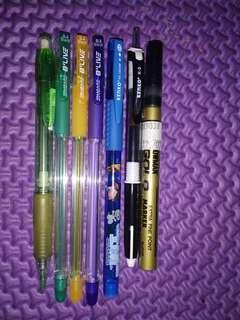 Take all - pulpen, pensil mekanik, dan spidol gold