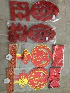 CNY Decor, Assorted & Brand New
