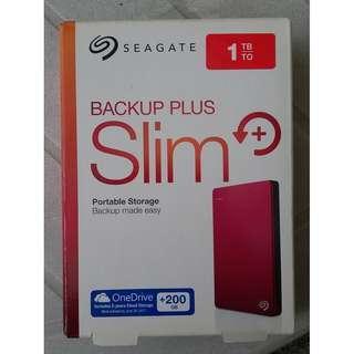 Seagate 1TB External Hard Drive (Red Color)