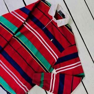 🚚 Vintage Ralph Lauren Colorblock Rugby Polo