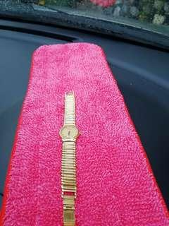 Raymond weil 18k gold electroplated watch