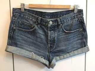藍色牛仔短褲 Blue denim shorts