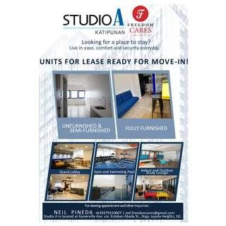 Condo unit for Rent in front of Ateneo QC.
