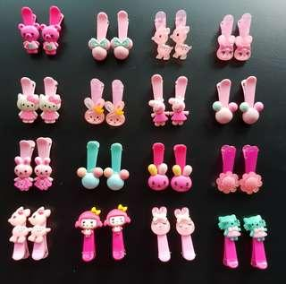 🚚 (5 Pairs Free 1 Pairs) Many designs inside - Children Hair Clips