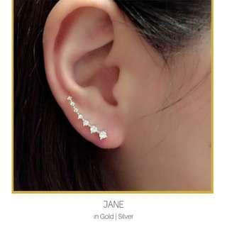 Seven Rhinestones Ear Climber