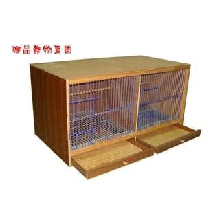 ==臻品寵物鳥園==長方型雙格籠箱.雙隔外箱.飼育箱.繁殖木箱.可加低亮度保溫燈組.適新進個體.幼體.繁殖體.棲木可拆卸.