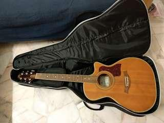 [Price Revised] SX Solid Top Semi Acoustic Guitar