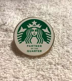 Starbucks Partner Of The Quarter Award Badge