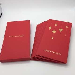 20個!Van Cleef & Arpels豬年利是封禮盒2019(每盒10個,共兩盒) Year of the pig Red Packet 名牌利是封(20pcs)包平郵 全新專櫃品 任何兩件商品95折 三套封以上包順豐
