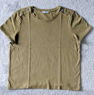 Zara Green Shirt