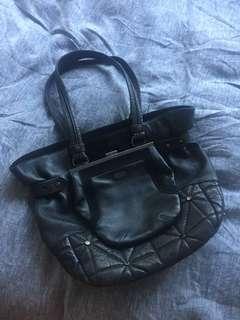 Mimco tote bag black leather