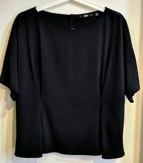 Uniqlo Black Blouse Top
