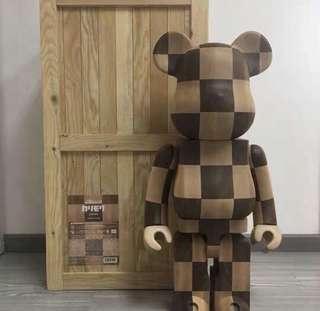 Bearbrick Wooden 格仔 1000%