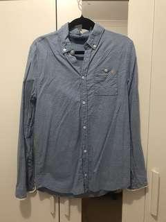 GUESS Chambray long sleeve button up