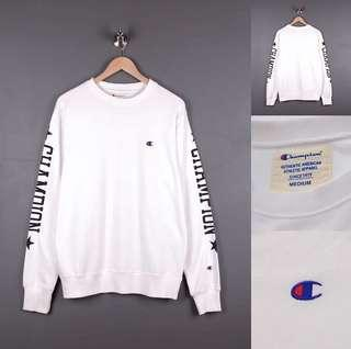 Sweater Champion Hand Signature White