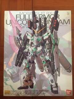 全新殘盒MG1/100Unicorn Full Armor Ver•Ka