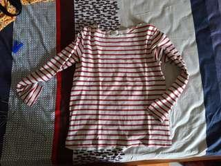 Baju Garis Merah Stripes