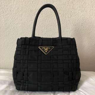 d0f3f5d3c91d Prada Black Nylon x Leather Tote Bag