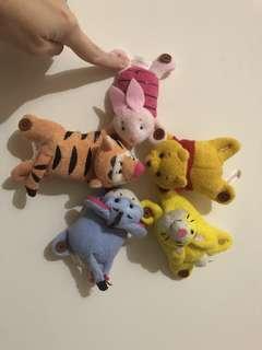 Yujin出品 Disney Winnie the Pooh 毛巾布公仔1套