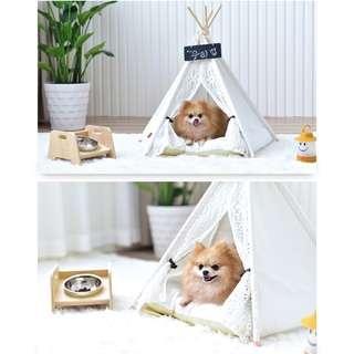 *INSTOCK* Washable Black & White Stripes Pet Tent!