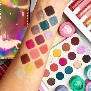 Free shipping! Ready stock! Chasing rainbow colourpop eyeshadow palette