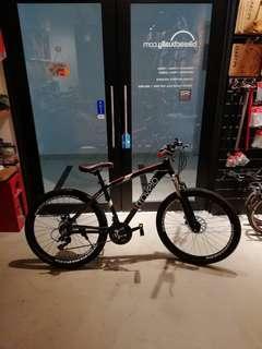 travelo 14.6kg aluminium mountain bike