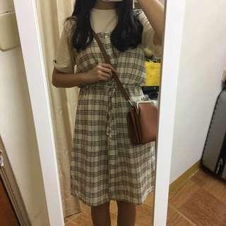 🚚 格子連衣裙