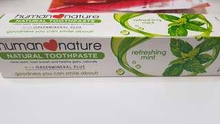 Human Nature Toothpaste