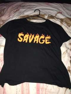 savage top with holes