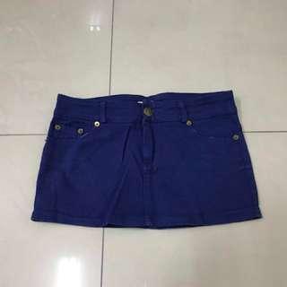 🚚 寶藍色短裙