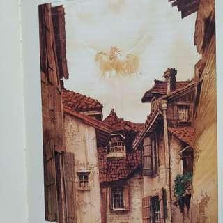 Watercolor Illustrated Pilgrim's Progress book