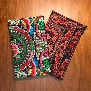 THAI Embroidered Cloth Clutch