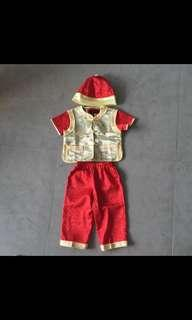 Cny Chinese New Year boy traditional clothes costume