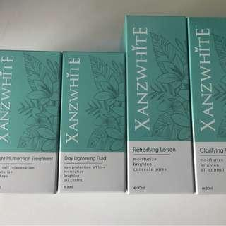 (FREE POSTAGE) XANZWHITE CLEANSER,TONER,LIGHTENING FLUID,MULTI ACTION TREATMENT