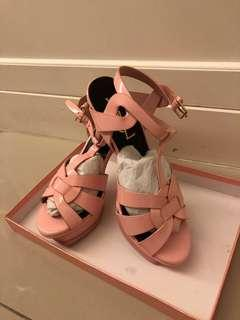 Inspired YSL Tribute Heels in baby Pink colour