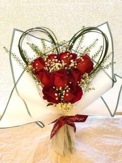 ❤️ 情人節 玫瑰花束❤️ 鮮花 紅玫瑰 禮物 red rose flowers valentines gift 包送 香港 九龍