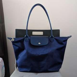 6813d7e3ef4c9 Longchamp Le Pliage Neo Tote Bag L Blue