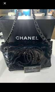 Very Good Chanel Rock Patent Small Size
