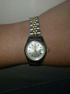 Crater Japan Brand Watch Stainless Steel Two Tone With Diamond Water Resistant Japan Movement